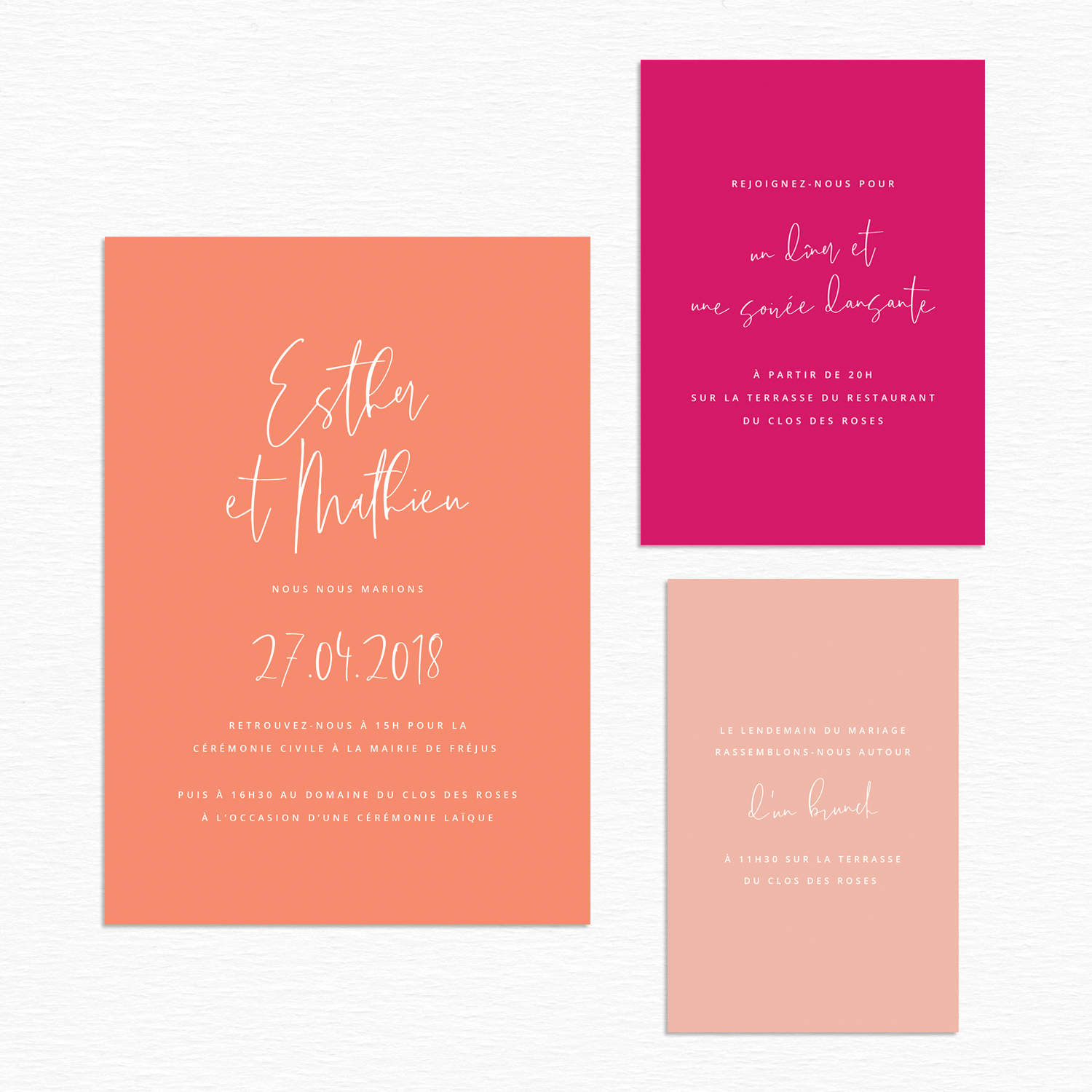 collection mariage alternatif faire-part color block