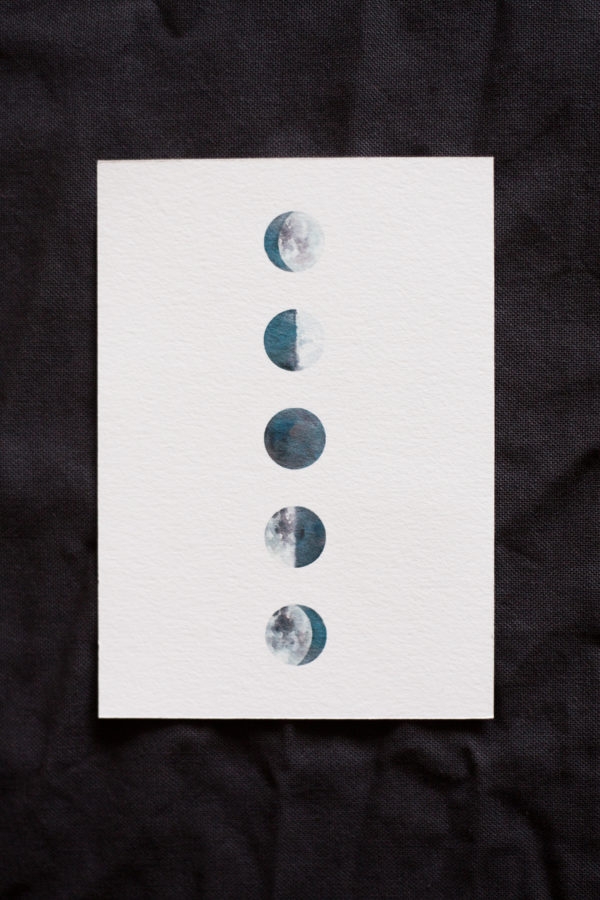 carte phases lune moon