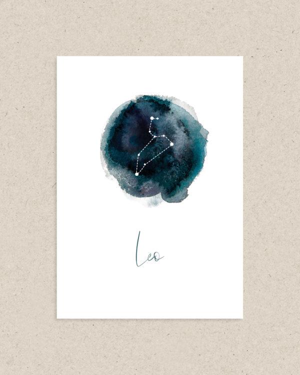carte signe astrologie zodiaque lion